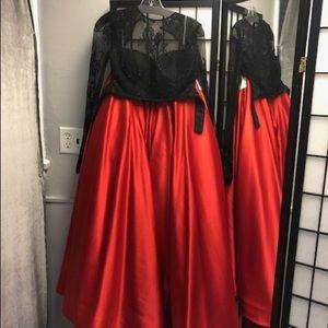 Sherri Hill Two Piece Prom Dress